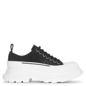 Alexander McQueen新款闪片厚底鞋