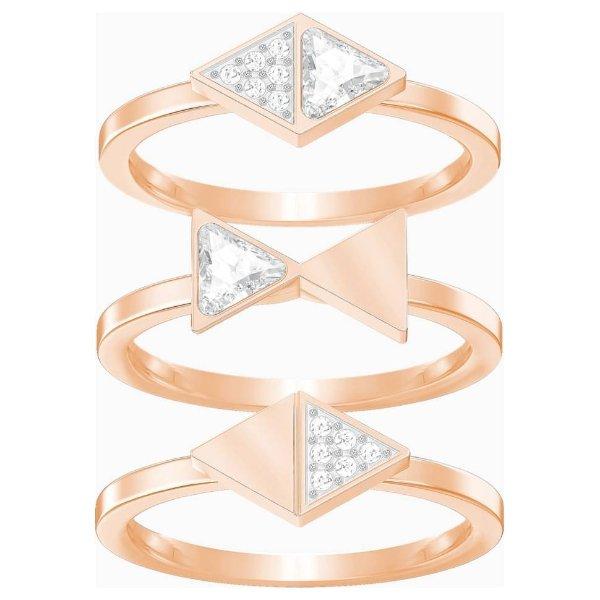 镀玫瑰金水晶戒指