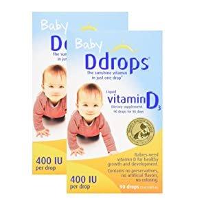 Amazon.com: Ddrops Baby 400 IU Drops, 2Count: Baby