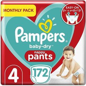 Pampers4码干爽婴儿尿布,172片 (9-15 kg / 20-33 lbs)