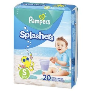 Pampers Splashers 游泳专用尿布,S号20片