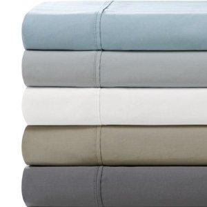 所有尺码 $14.99Comfort Classics 450支 纯棉床单+床笠+枕套套装