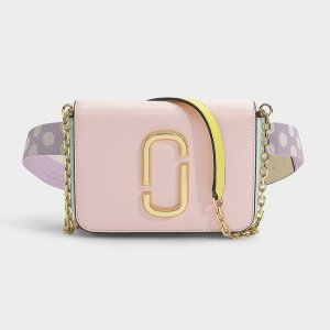 Marc JacobsHip Shot Bag in Blush Split Cow Leather with Polyurethane Coating