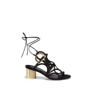 Gancini Sandal With Flower Heel