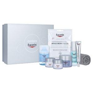 仅€54.99收8件套 德国老牌药妆Eucerin 优色林 独家护肤盒子 透明质酸系列 补水去皱抗老全在线