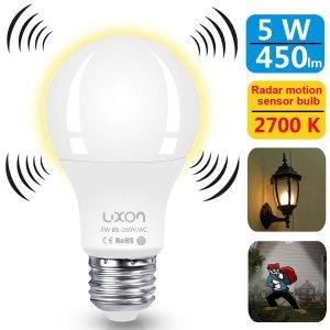 $7.8LUXON Motion Sensor Light Bulb 5W
