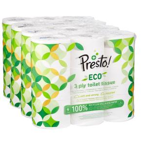 36卷只要18.39欧Presto! eco 可回收亚马逊自有品牌3层厕纸