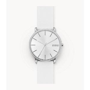 SkagenHagen Three-Hand White Silicone Watch