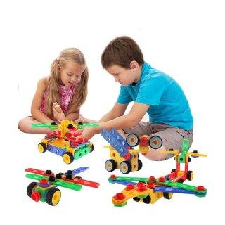 ETI Toys Original 101 Piece Educational Construction Engineering Building Blocks Set