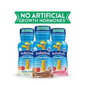 低至$29.31 帮助宝宝追赶成长PediaSure Grow & Gain 儿童营养乳饮,口味全