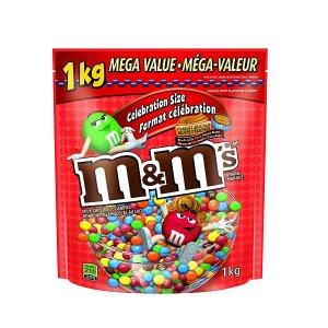$9.97 (原价$17.39)M&M's 花生巧克力豆1公斤超值装  快到碗里来