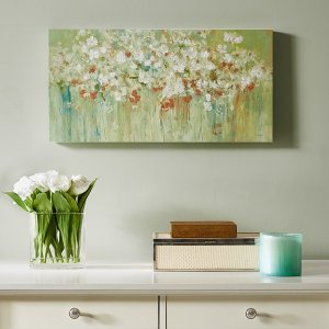 Madison ParkSpring Fields Cross Brush Gel Coat and Hand Embellished Canvas By Madison Park - Designer Living