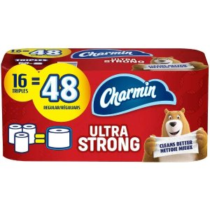 $14.22(原价$20.99)Charmin Ultra Strong 超强双层卫生纸 16卷装