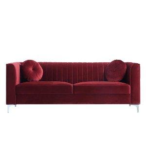 复古红丝绒沙发