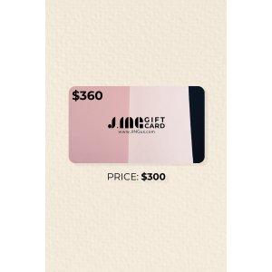 J.ING相当于6.5折周年礼卡 价值$360