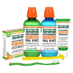 $4.99TheraBreath Kit: 2x 16oz Oral Rinse, 4oz Toothpaste, Lozenges + Toothbrush