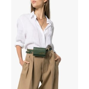 JacquemusGreen Le Ceinture Bello Leather Belt Bag