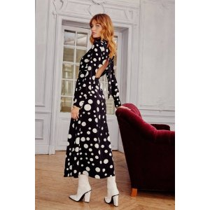 Dot With Me High Neck Midi Dress | Shop Clothes at Nasty Gal!