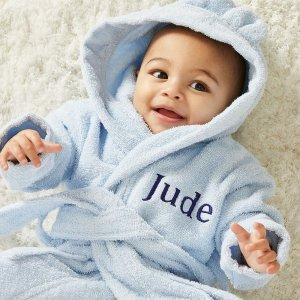 My 1st YearsBuy one Get One Half OffPersonalized Blue Hooded Towelling Robe