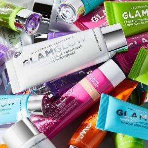 满£35送价值£25的大礼包GLAMGLOW热卖 收每个颜色都值得入手的发光面膜