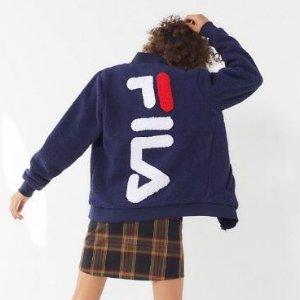 FILA Louis Sherpa Fleece Zip-Front Jacket