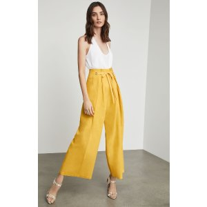 BCBGMAXAZRIAPleated Lace-Up Pant