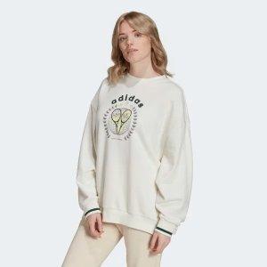 AdidasINS博主同款Tennis Luxe 卫衣