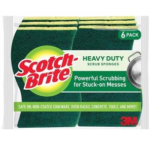 Scotch-Brite Heavy Duty Scrub Sponges on sale