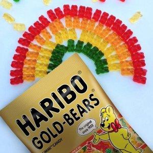 $11.98 每袋仅$1Haribo Gummi 小熊果汁软糖 原装金熊 5盎司 12袋