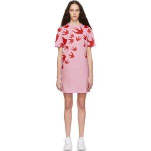 MCQ ALEXANDER MCQUEEN- Pink Swallow Dress