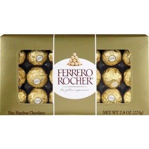 Ferrero Rocher买1送1榛仁巧克力球 18颗装