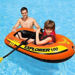 $8.19(原价$23)白菜价:Intex Explorer 100 单人充气橡皮艇
