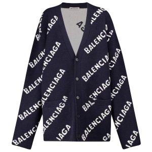 Balenciaga满£1200减£200Logo开衫