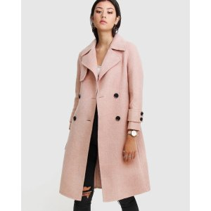 Endless Attention Wool Coat - Rose Pink