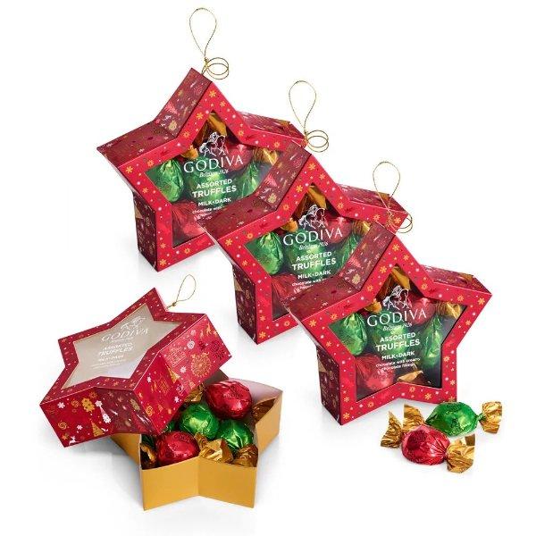 巧克力圣诞星饰 4盒 共40颗