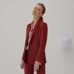 独家8.5折+免邮 收气质砖红色外套Front Row Drama 系列女士西服西裤 经典5色可选