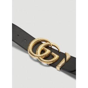 GucciDouble G Logo 宽版腰带