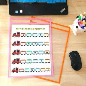 $28.89(原价$36.99) 免邮儿童算术练字袋30只 可反复使用收纳书写 儿童教育必备