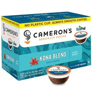 $20.80 每颗$0.28Cameron's Coffee Kona Blend 胶囊咖啡 72颗