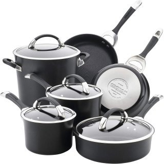 Circulon 87526 Symmetry Dishwasher Safe Hard Anodized Nonstick Cookware Pots and Pans Set
