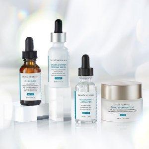 无门槛8.5折+ 双重送礼即将截止:SkinCeuticals 全场护肤热卖 收美白发光瓶、抗老套装