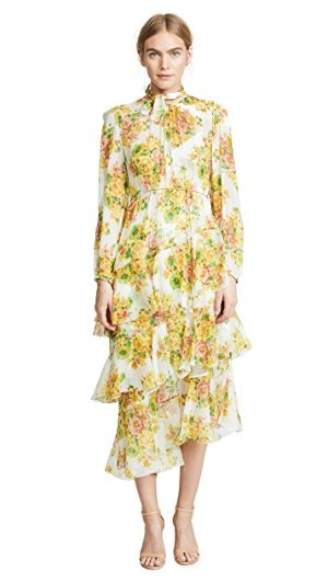 Zimmermann Golden Tiered Dress | SHOPBOP