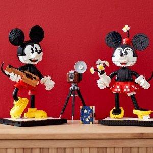 €179.99 收米奇和米妮上新:Lego X Disney 90周年合作款 全球首发
