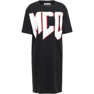 McQ Alexander McQueen黑色logoT恤裙