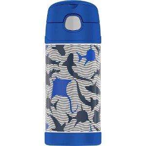 e4d14e8bab33 ThermosCrckt 12oz Funtainer Water Bottle - Wavy Shark