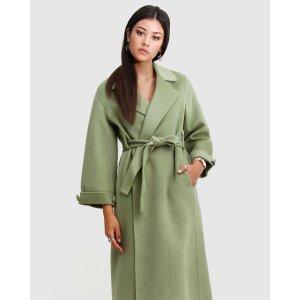 抹茶浴袍大衣