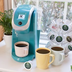 $69.99包邮Keurig K200 胶囊咖啡机 复古蓝、正红色可选