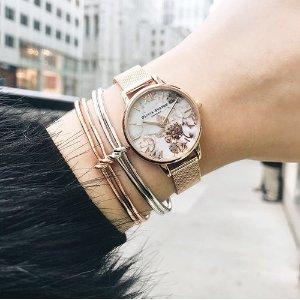 6折 $75收花卉腕表Olivia Burton 英国小清新手表热卖
