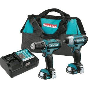 $99Makita 12-Volt MAX CXT Lithium-Ion Cordless 3/8 in. Drill and Impact Driver Combo Kit