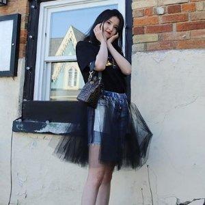 低至2折 无敌显腿细Unravel 美国小众品牌 超A性感牛仔纱裙Slay全场